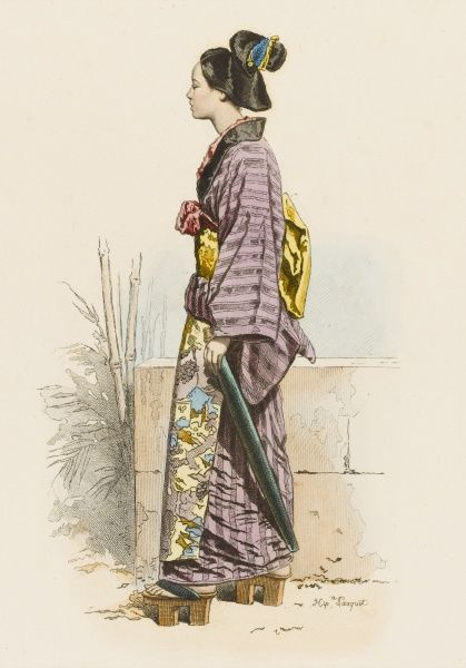 A Japanese woman from Yedo (Tokyo) in her town dress