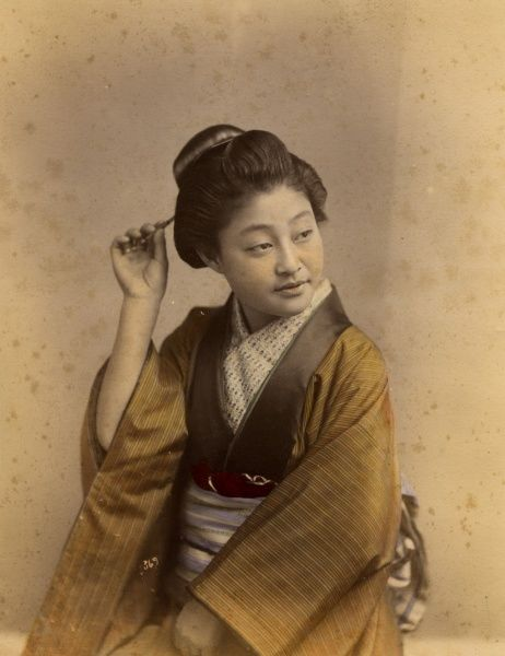 Japanese woman with hairpin