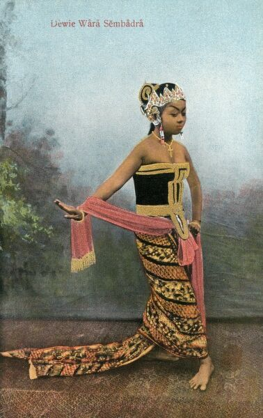 Java - Indonesia - Traditional Dance Moves - Dewie Wara Sembadra Date: circa 1910s
