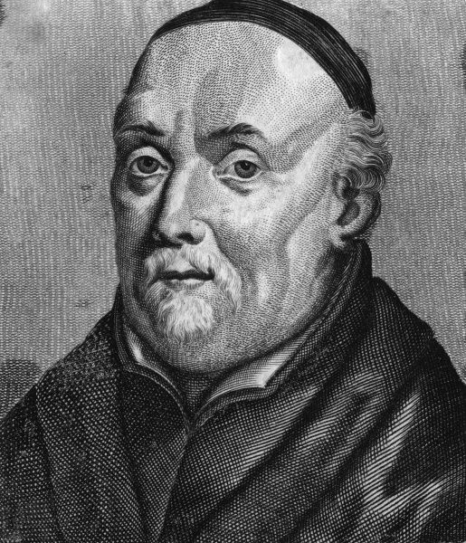 JEAN DE BOLLAND (Johannes Bollandius) - Flemish Jesuit scholar, known for his Lives of the Saints, work which is still carried on by the 'Bollandists' today. Date: 1596 - 1665