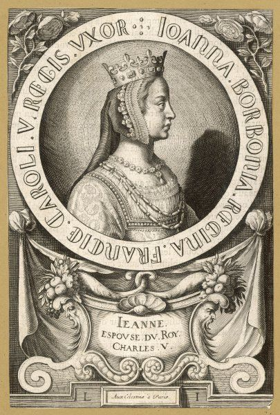 JEANNE DE BOURBON queen of Charles V le Sage, king of France