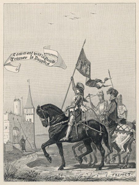 Jeanne d'Arc rides to meet Charles VII at Chinon