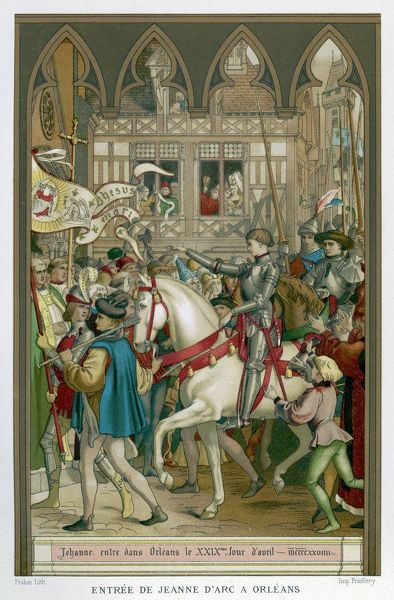 JOAN OF ARC Enters Orleans on 29 April 1428