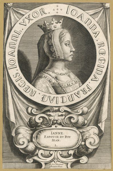 JEANNE D'AUVERGNE queen of Jean II le Bon, king of France