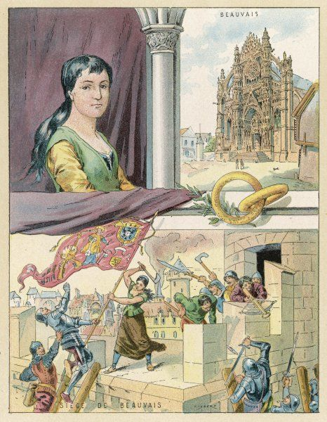 JEANNE HACHETTE courageous young lady who roused the people of Beauvais to defend their city against Charles le Temeraire, duc de Bourgogne