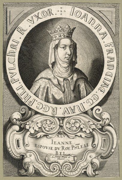 JOANNA / JUANA queen of Navarre, wife of Philippe IV le Bel of France and consequently also known as JEANNE DE NAVARRE