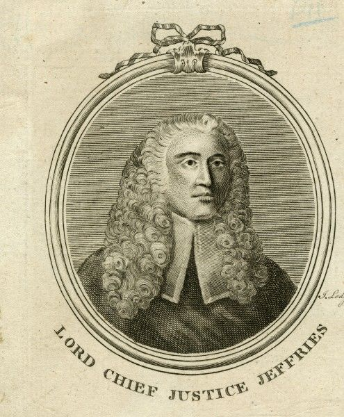 GEORGE JEFFREYS, 1st Baron Jeffreys - English judge and Lord Chief Justice (JUDGE JEFFREYS)