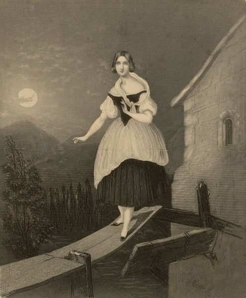 JENNY LIND Soprano singer, seen here in the role of Amina in Bellini's opera 'La Sonnambula&#39