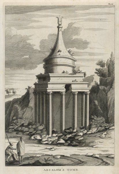 'ABSALOM'S TOMB' The so-called tomb of Absalom, son of David, who died while fleeing, after his rebellion against his father had been suppressed