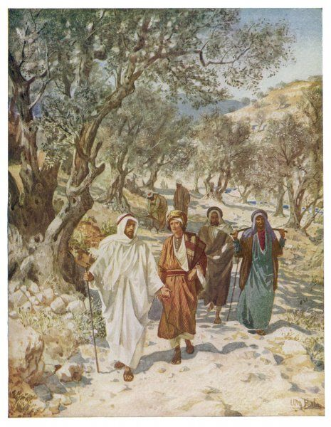 Jesus travels into Galilee with Philip and Nathanael