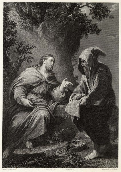 Jesus is tempted by Satan in the wilderness - 'Command this stone that it be made bread&#39