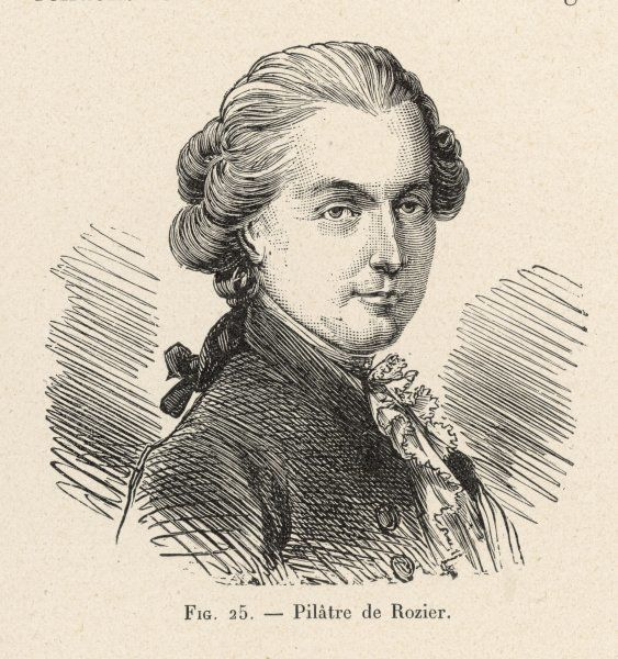 JEAN-FRANCOIS PILATRE DE ROZIER French physicist and aeronaut. First human being to ascend in a balloon, with Montgolfier