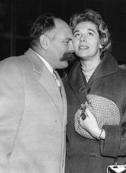 Jimmy Edwards (1920-1988) British comedian and actor with his wife