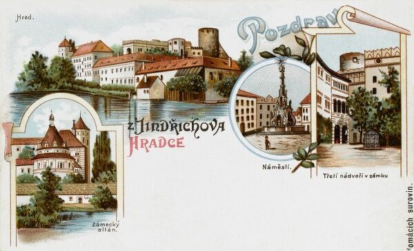 Jindrichuv Hradec - a town in the South Bohemian Region of the Czech Republic