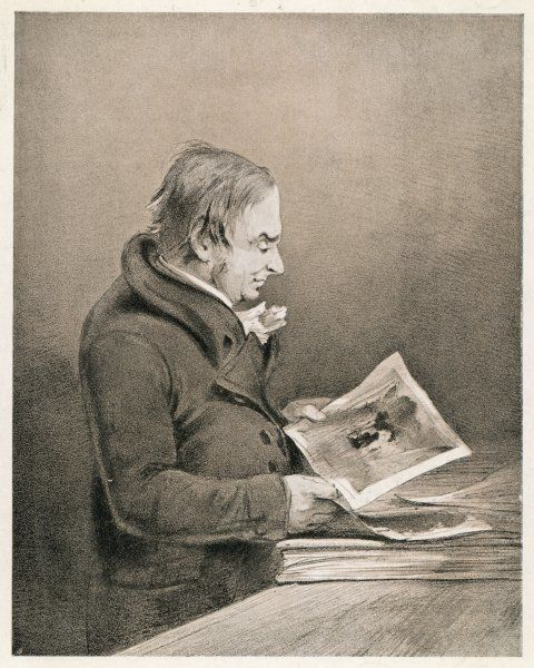 J M W TURNER English painter looking at his drawings