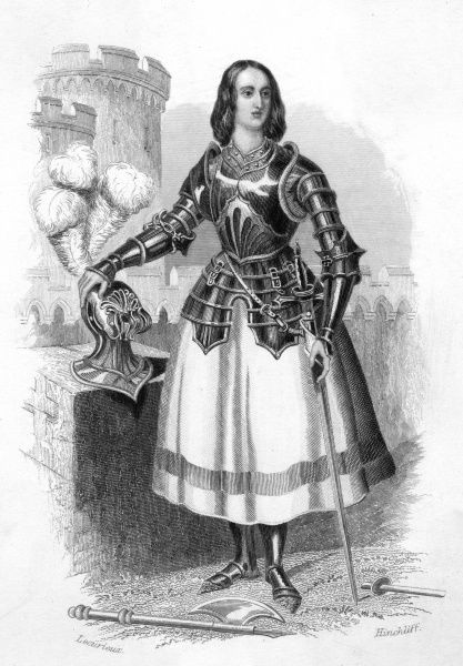 JOAN OF ARC French heroine dressed in armour Date: 1412? - 1431