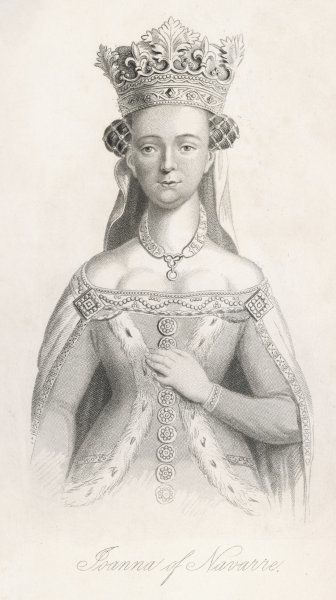 JOAN OF NAVARRE Queen of Henry IV of England. She was regent of Brittany for her son by her 1st marriage. Accused of witchcraft