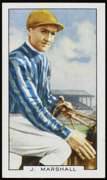 Joseph Marshall, jockey, in the colours of Mrs C Rich