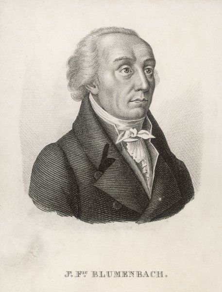 JOHANN FRIEDRICH BLUMENBACH German zoologist and anthropologist and professor of medicine