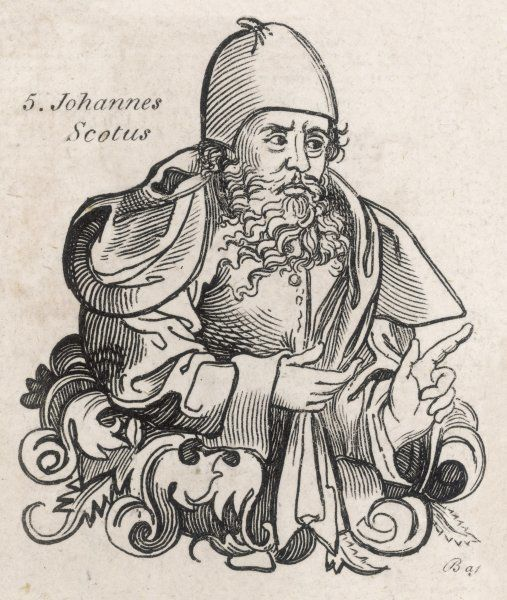 JOHANNES SCOTUS ERIGENA Philosopher and Theologian. Also known as John the Scot