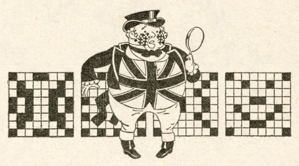 The mid-1920s crossword craze brings John Bull out in crossword fever as an epidemic of crossword puzzles hook the nation