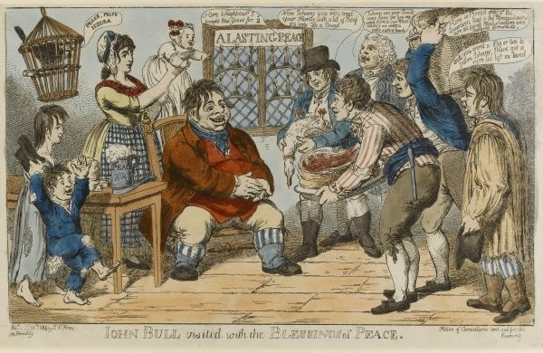 John Bull visited with the Blessings of Peace
