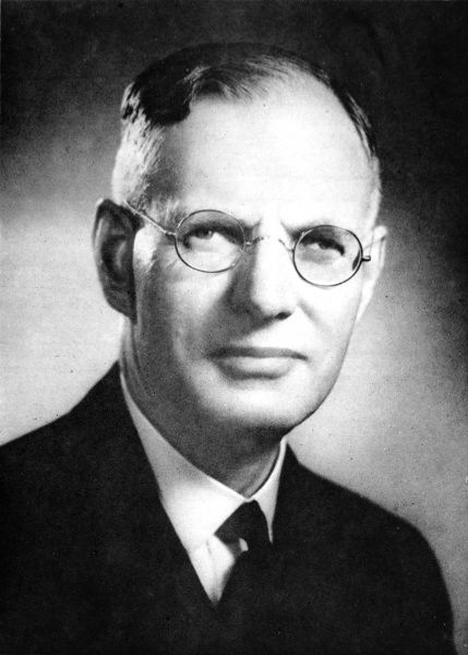 Photograph portrait of John Curtin (1885-1945), the Labor Prime Minister of Australia during the Second World War, pictured c.1944