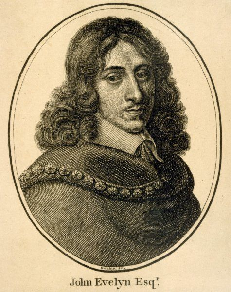 JOHN EVELYN English diarist, chronicler of contemporary events, and Treasurer of Greenwich Hospital