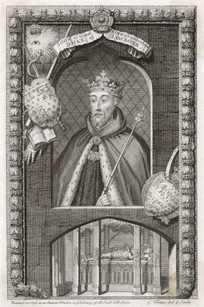 JOHN OF GAUNT English Prince, 4th son of Edward III and brother of the Black Prince