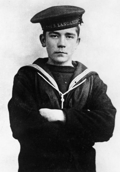 John 'Jack' Travers Cornwell (1900-1916), heroic young sailor posthumously awarded the Victoria Cross for his bravery on HMS Chester during the Battle of Jutland, while under fire from four German cruisers during the First World War