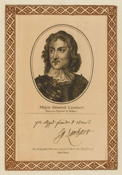 JOHN LAMBERT military commander in the Parliamentary forces during the Civil War with his autograph