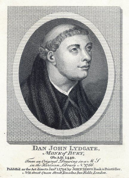 JOHN LYDGATE priest and poet