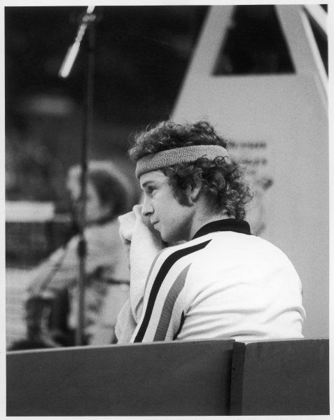John McEnroe at the Benson and Hedges Championships at Wembley in 1979