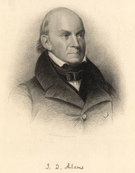 JOHN QUINCY ADAMS US President 1825-1829