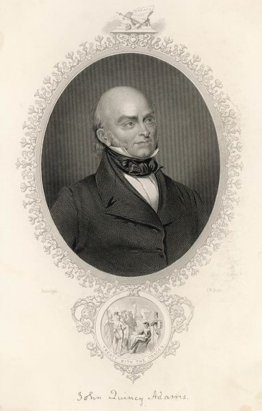 JOHN QUINCY ADAMS US President 1825-1829 who negotiated a treaty with the Osage Indians