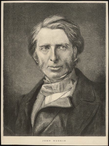 JOHN RUSKIN English art critic and writer as a (fairly) young man