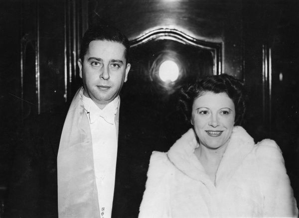 John van Druten (1901-1957) British-born American dramatist and theatre director together with Ruth Chatterton, American actress (1893-1961)