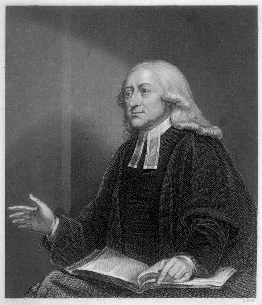 JOHN WESLEY English religious leader preaching