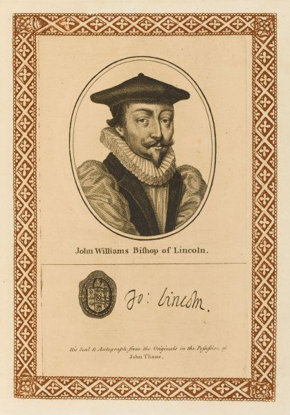 JOHN WILLIAMS bishop of Lincoln with his autograph