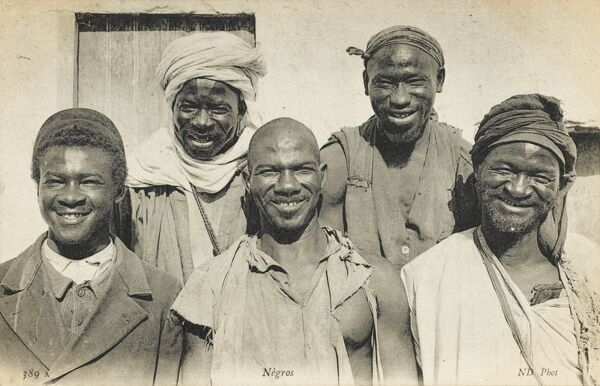 Five very jolly black Africans from southern Algeria