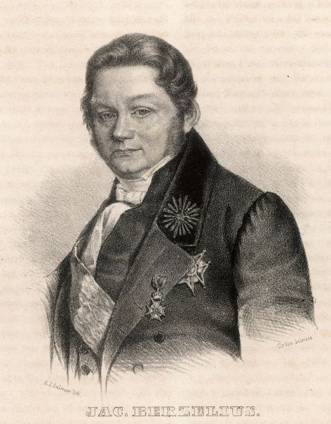 Jons Jacob Berzelius, Swedish chemist, considered one of the fathers of modern chemistry