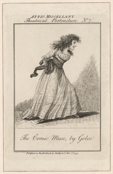 DOROTHEA JORDAN actress as The Comic Muse