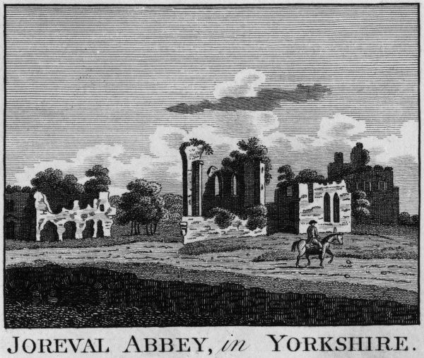 The ruins of Joreval Abbey, Yorkshire Date: circa 1770