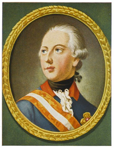 EMPEROR JOSEF II Holy Roman Emperor (1765-90), King of Germany (1764-90), son of Maria Theresia