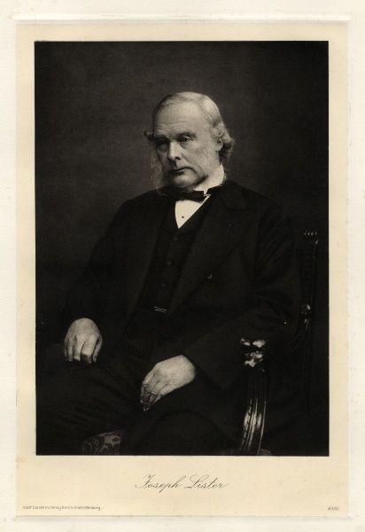 Joseph Lister, 1st Baron Lister (1827-1912), English surgeon, medical scientist and founder of antiseptic surgery