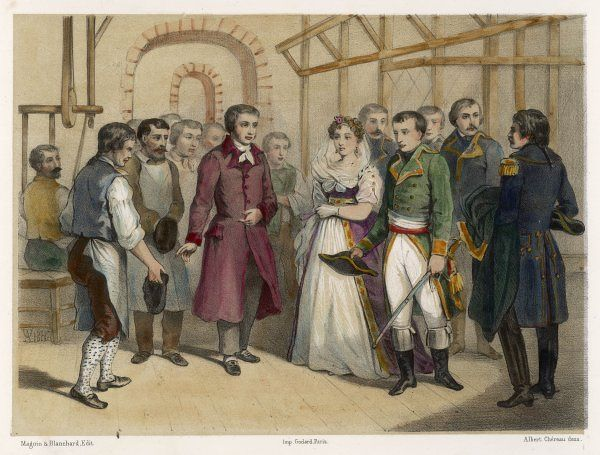 JOSEPH-MARIE JACQUARD French inventor of the Jacquard loom, explains to Napoleon the principles of his invention