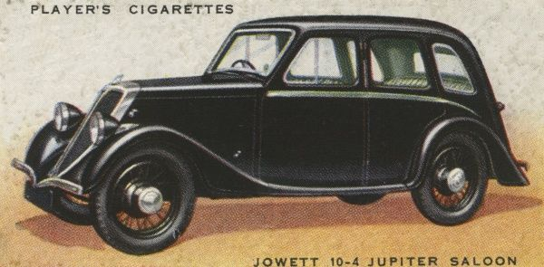The Jowett 10-4 Jupiter is a middle-of-the-range family saloon. The 10-4 means 10 horsepower and 4 cylinders. Date: 1936