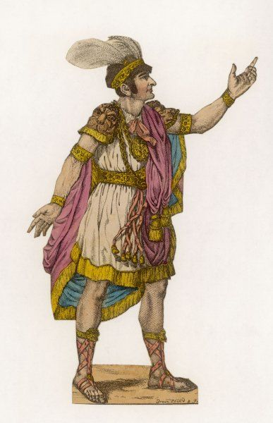 JOHN PHILIP KEMBLE Popular actor and theatre manager, seen here in Roman costume