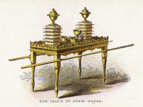 Ceremonial objects : THE TABLE OF SHEW-BREAD