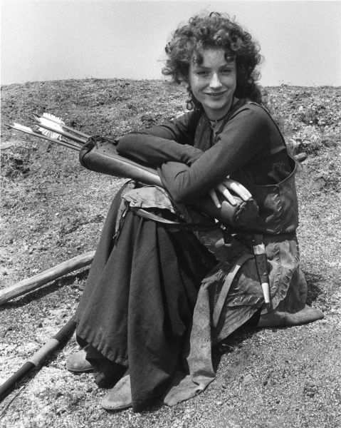The actress Judi Trott (b 1962) as Maid Marion in the popular 1980s television series Robin of Sherwood (1984-86)